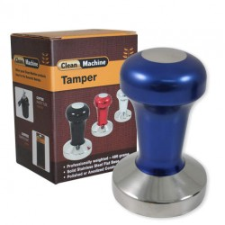 Coffee Tamper, 58mm Stainless Flat, Blue -ProTamp