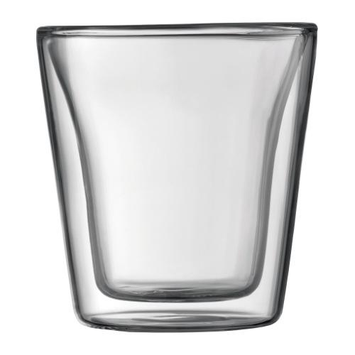 Bodum Canteen 3oz Glass 2pc