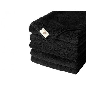 Pack of 5 Black Microfibre Cloths
