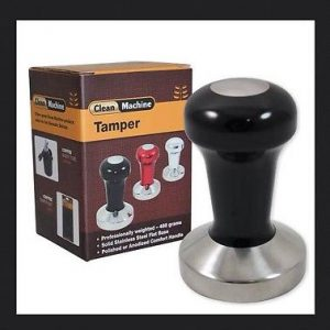 Coffee Tamper, 58mm Stainless Flat, Black – ProTamp