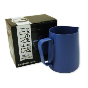 Rhinowares Stealth Milk Pitcher - 950ml/32oz - Blue