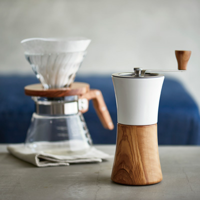 Hario Coffee Mill - Ceramic Olive Wood